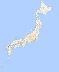 Japan Full Cities Map