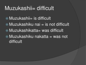 Different ways to say Muzukashii in Japanese