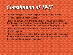 Japanese Constitutional Facts