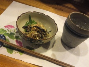 First Snack and First Drink at Izakaya in Japan
