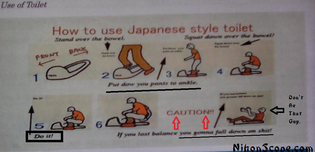 How to Not Fall on Shit using a Japanese toilet