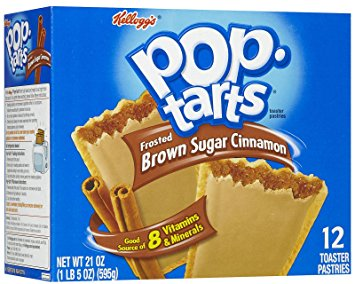 American brown sugar cinnamon flavored pop tarts