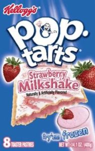 Kellogs Strawberry Milkshake POP tarts Generic Artifically Flavored and Colored Substance Considered food