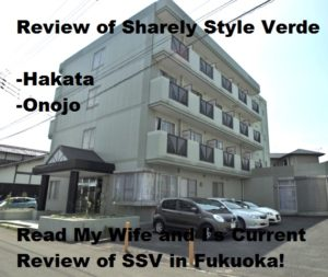 My wife and I's current review of SSV Sharely Style Verde in Fukuoka, Japan